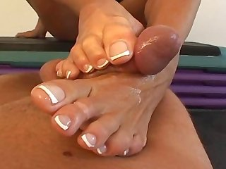 Goddess heather pov footjob