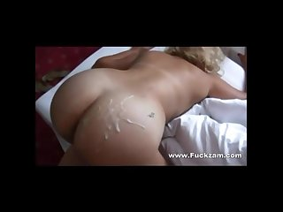 Milf banged from behind ass gooed