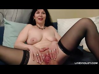 Hot flexible old sylvana with a wide open pussy