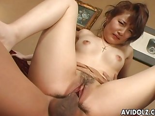 Hot asian girlfriend got her pussy stuffed with various toys