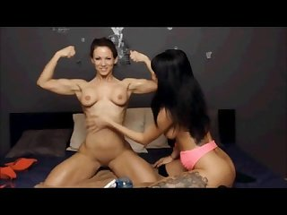 Susie kathy lesbian muscle oil show