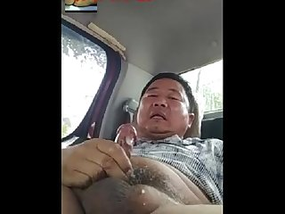 Asian mature man uncle daddy masturbation cumshot 2