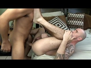 Sexy tattoo stud christou taking a raw monster dick and a fat load
