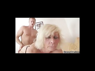 German granny fucks hard