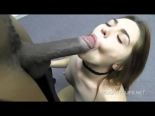 Amateur model chloe takes on her first big black cock bbc