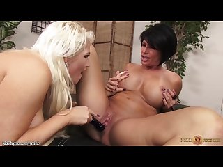 Hot Busty MILFS Nikki Phoenix and Shay Fox Take Turns Fucking Each Other
