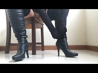 Boots Domination and Ruined Orgasm. POV.