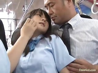 School girl fucked in bus