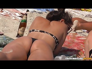 Sexy thong ass bikini beach teens voyeur video Hd