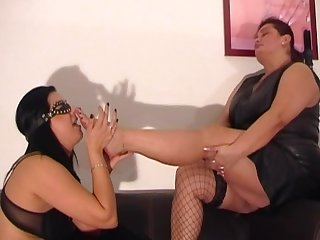 Indian mistress make slave lesbian foot worship