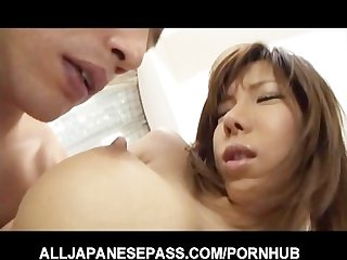 Big titty serina hayakawa has her nipples pinched and squeezed