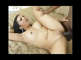Asian on big black cock