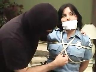 Girls bound and gagged in burglar