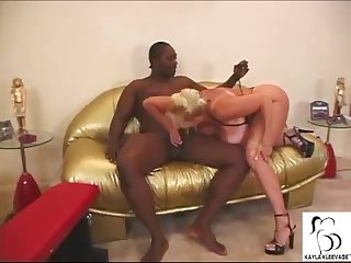Kayla kleevage dances for a big black cock
