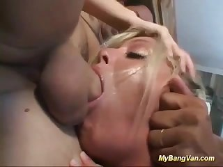 Stepmoms bangvan deepthroat gangbang