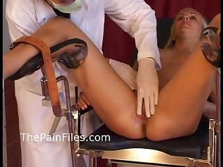 Young blonde slaves Medical humiliation and doctors bdsm at the pain clinic