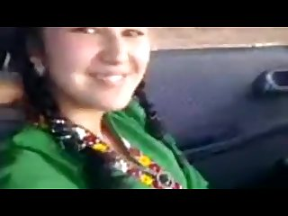Turkmen teen showing off her boobs