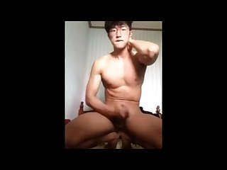 Cute Korean wanking alone