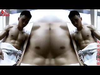 Sexy muscular asian model big dick nice load