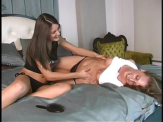 Loryn hogtied and tickled