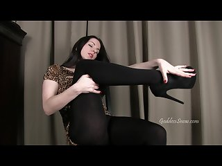 Black tights temptation