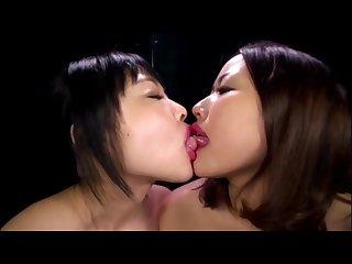 Lesbian lipstick kissing