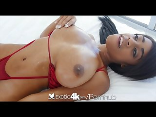 Exotic4k petite beauty with big tits brittney white slick and slippery Fu