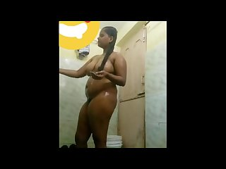 Deepika mantena indian telugu slut showing her full nude body in shower