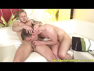 Amateur Twink deepthroathed and ass jizzed