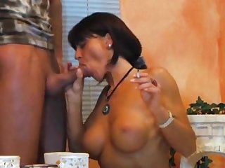 Smoking fetish sexy lady smoking blowjob