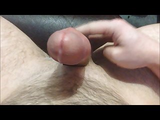 Edging my big cock to a hands free cumshot that drips down my balls