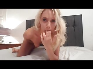 Fuckdoll lucy squirts in black panties with dildo