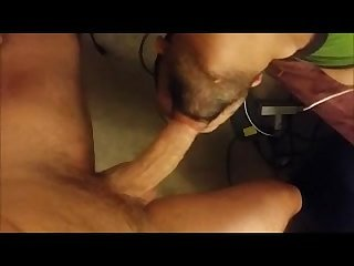 Getting facefucked by a huge dick and swallowing his load