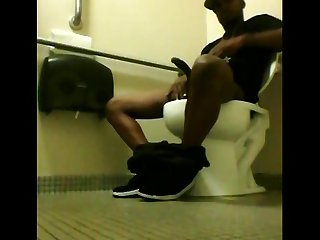 Caught in public bathroom