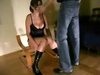 Facefucked and slapped slut