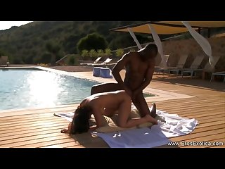 Ebony sex breakthrough outdoor