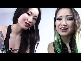 Spitting asian goddesses joi cei with cum countdown