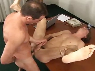 Twink fucked on a desk