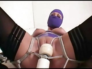 Lady in purple tied and vibed