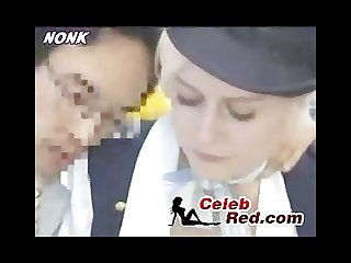 Swedish stewardess groped in japanese Bus swedish