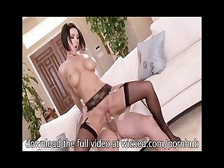 Hot horny maid dylan ryder sucks her boss and fucks him hard