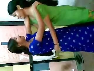 Desi engineering college girls enjoying in classroom