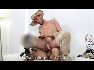 Alex mason wears a Halloween Costume to gay porn audition yeehaw