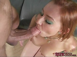 Scarlett pain takes one on her face