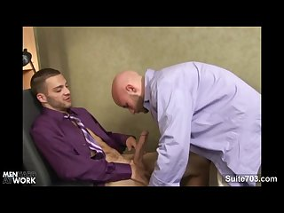 Lusty gays banging in the office