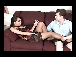 Kat tickled in nylons