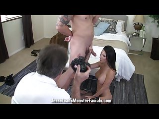 Behind the scenes hardcore photoshoot with dava foxx with big facial