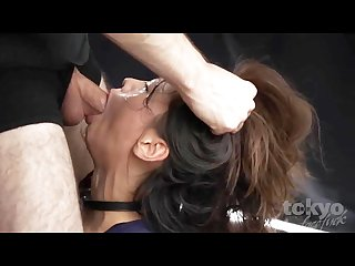 Japanese girl brutal face fuck reika