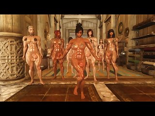 Futanari prisoner Skyrim 3d dickgirl dance Mmd