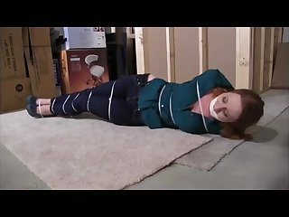 Older step sister jumped and zip tied